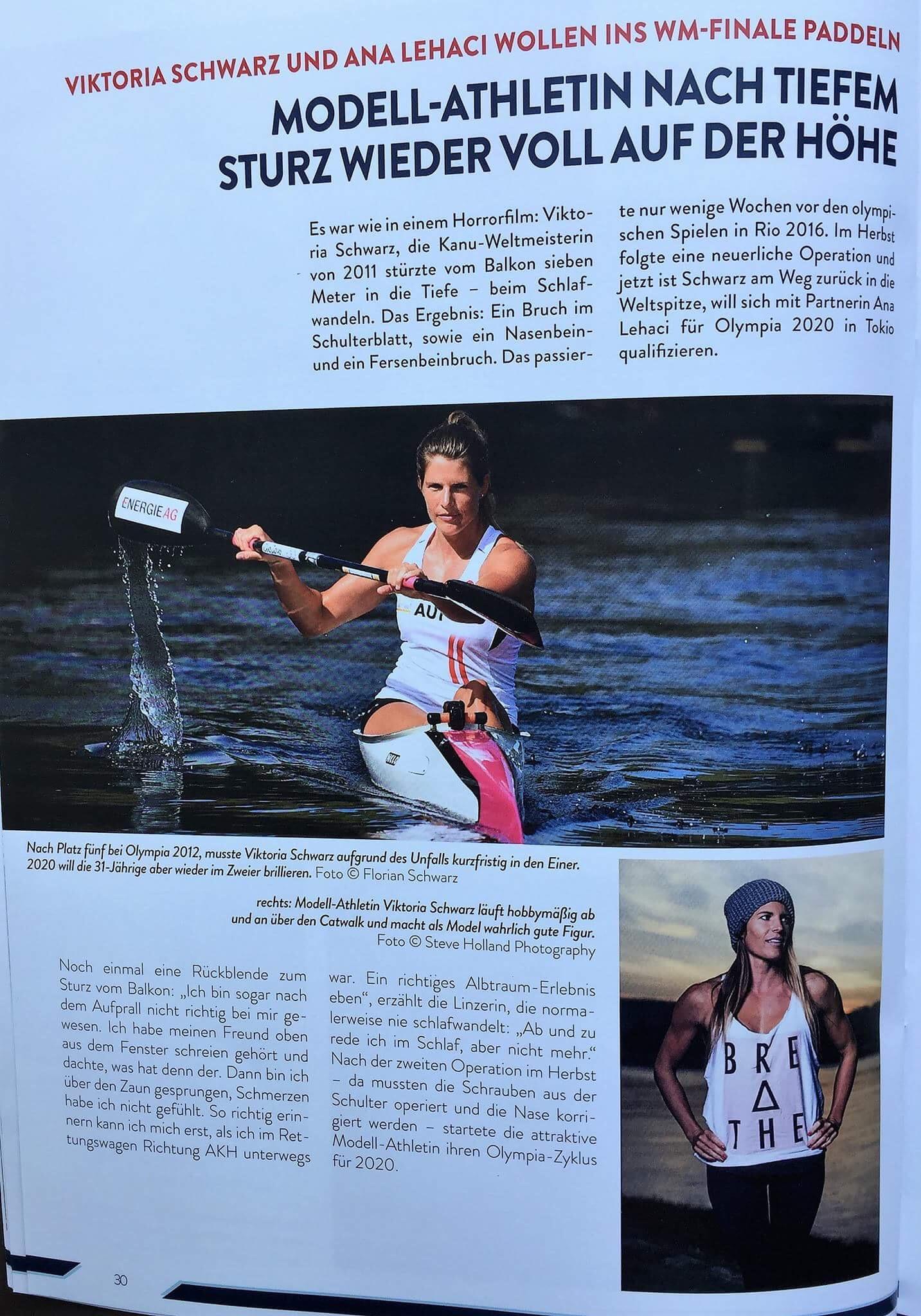 Modell-Athletin nach tiefem Sturz wieder voll auf der Höhe (Teil 1)