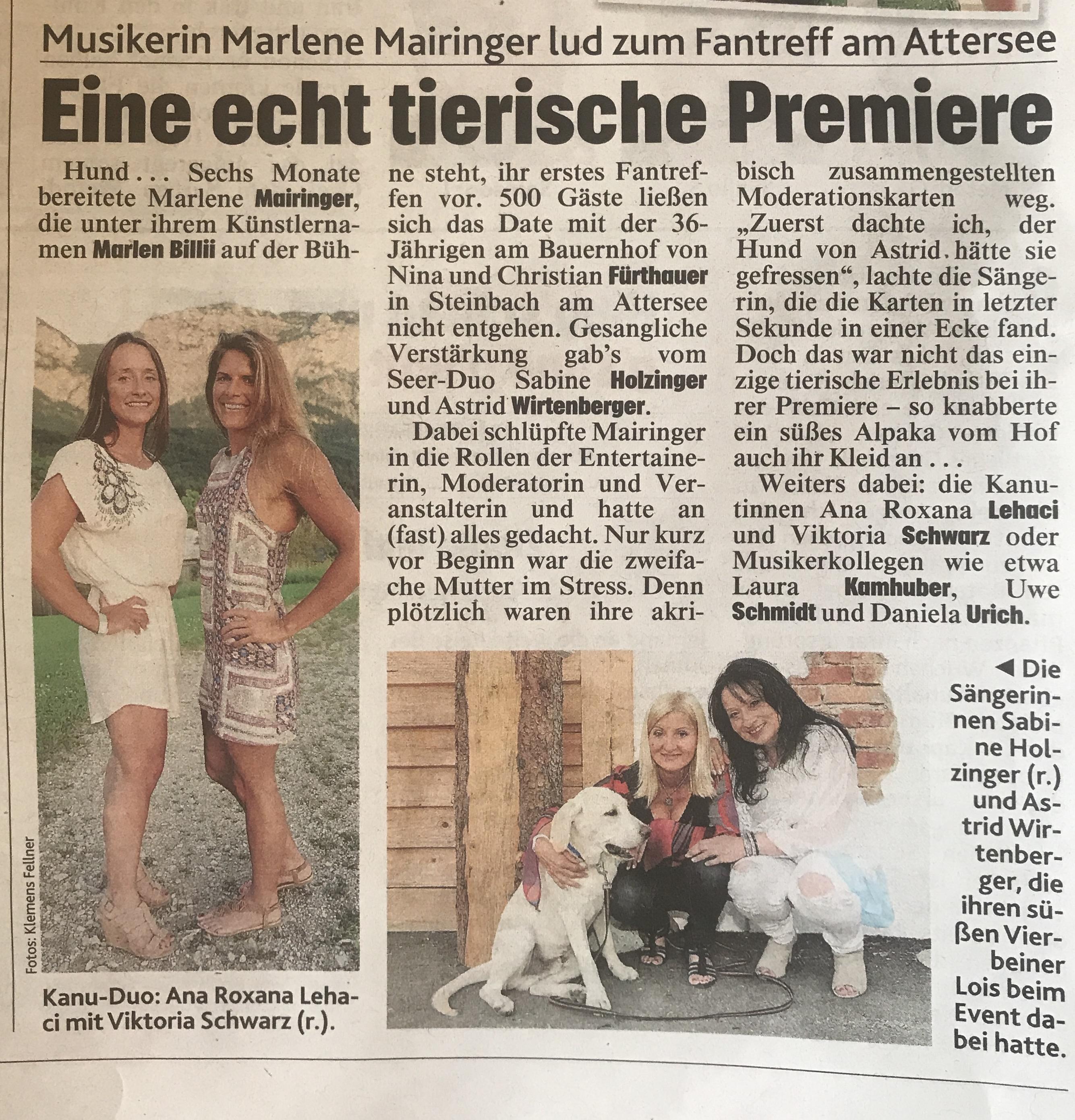 Eine echt tierische Premiere am Feldbauernhof / Attersee