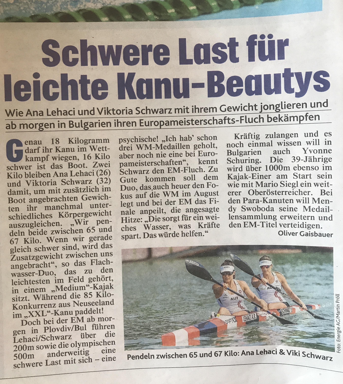Schwere Last für leichte Kanu - Beautys