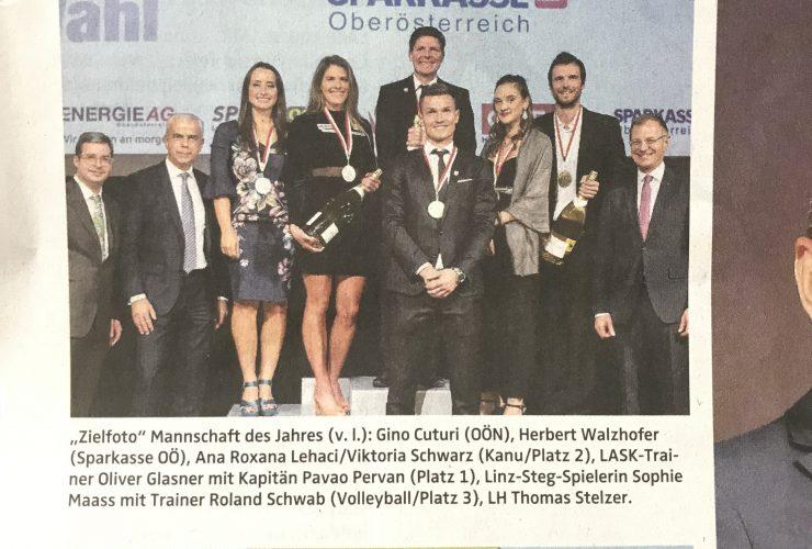 OÖN: 2.Platz OÖ Mannschaft des Jahres