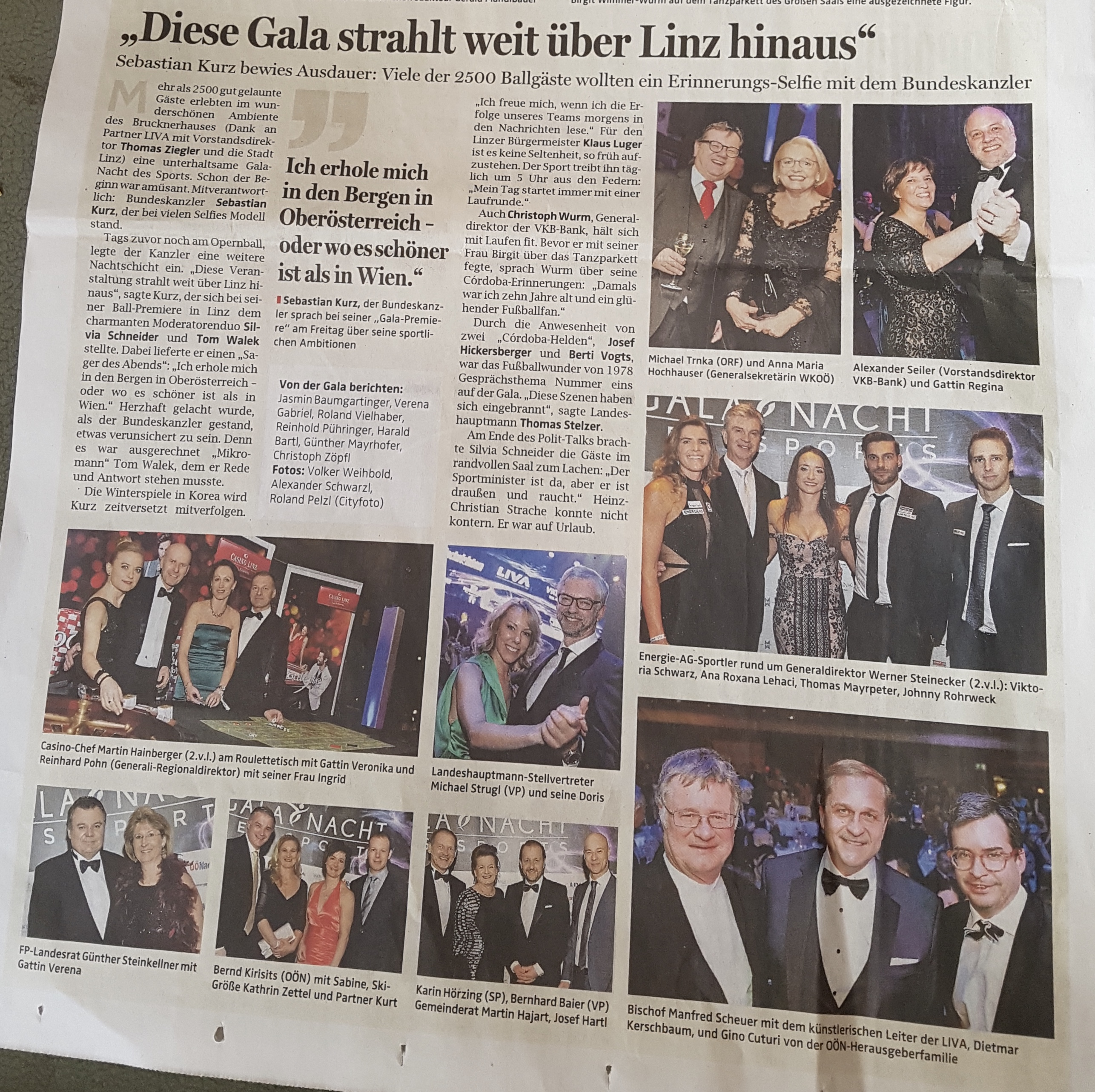 OÖN: Diese Gala strahlt weit über Linz hinaus