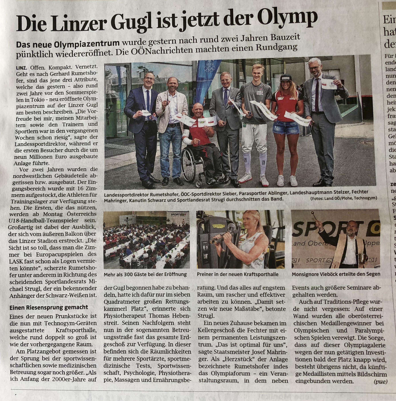 OÖN: Die Linzer Gugl ist jetzt der Olymp