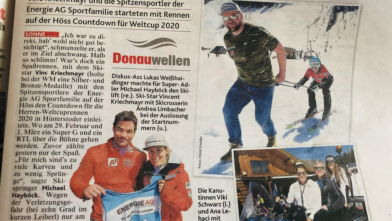 Krone: Im kurzen Leiberl auf der Ski Piste