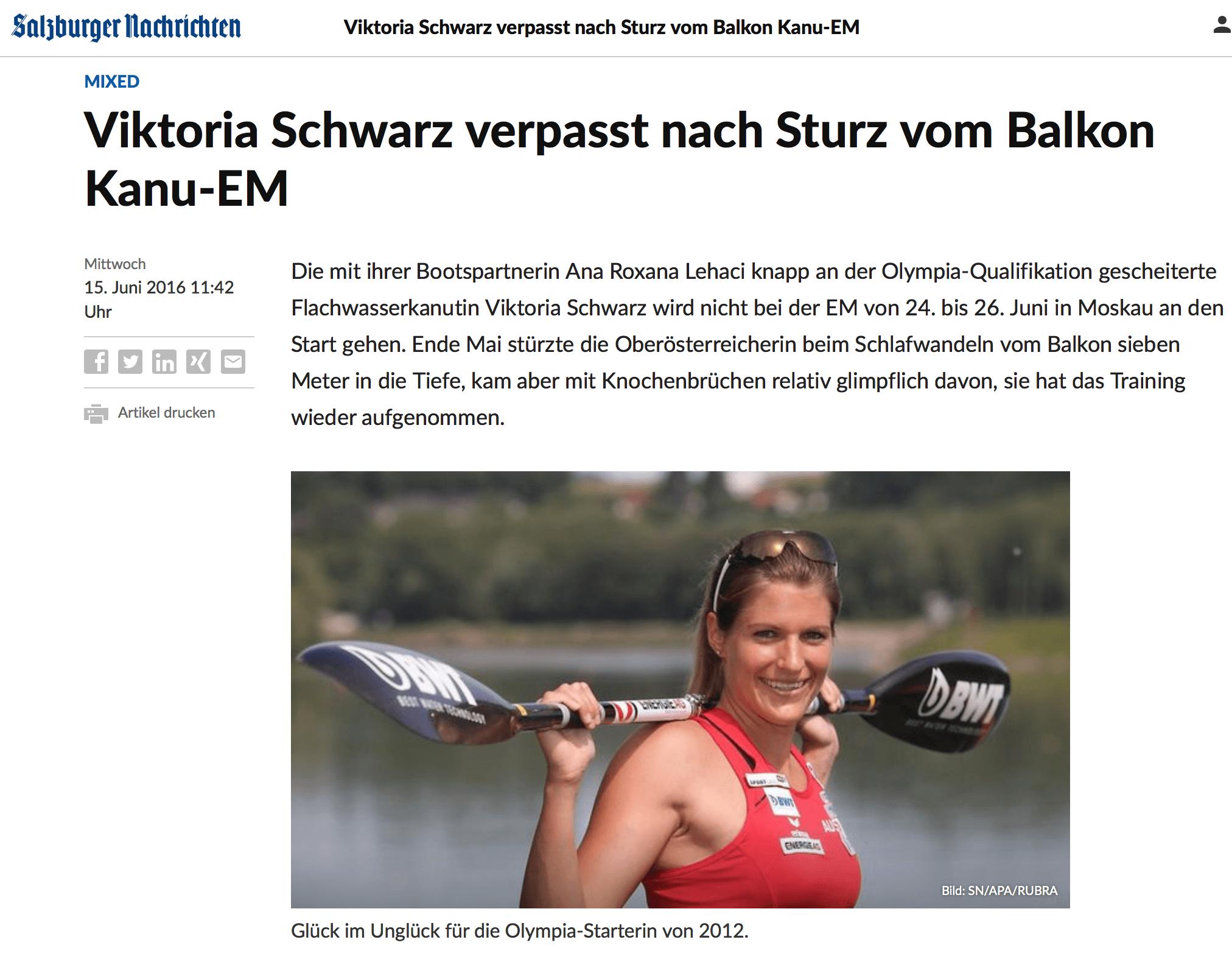 Viktoria Schwarz verpasst nach Sturz von Balkon EM