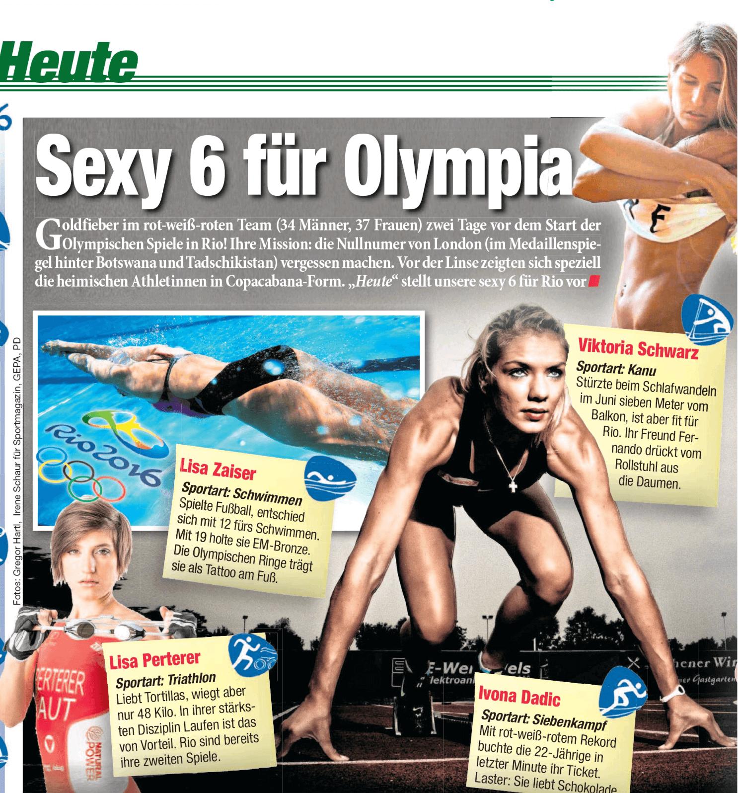 Sexy 6 für Olympia